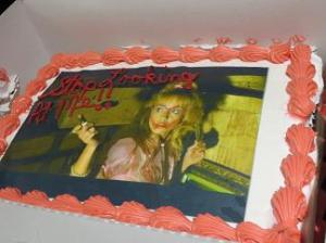 A cake a fan made for Linnea Quigley.