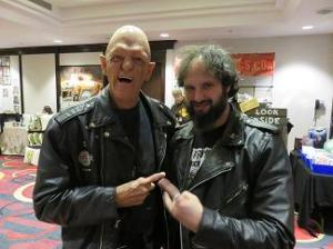 With Michael Berryman. One of the greatest guys you're ever likely to meet.
