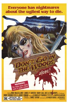 dontgointhewoodsposter